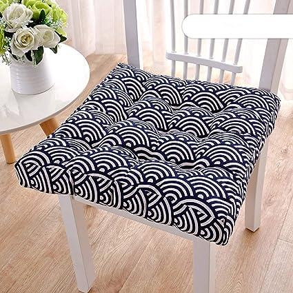 YEARLY Cuadrado Cojines para sillas, Interiores Aire Libre Espesar Cojines para sillas Felpa Tela Premium Inicio Decoración Patio Respirable Mullido ...