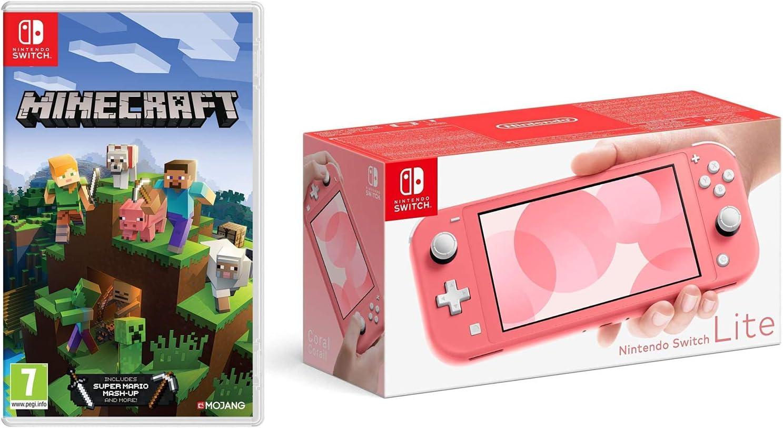 Nintendo Switch Lite - Coral + Minecraft (Nintendo Switch): Amazon