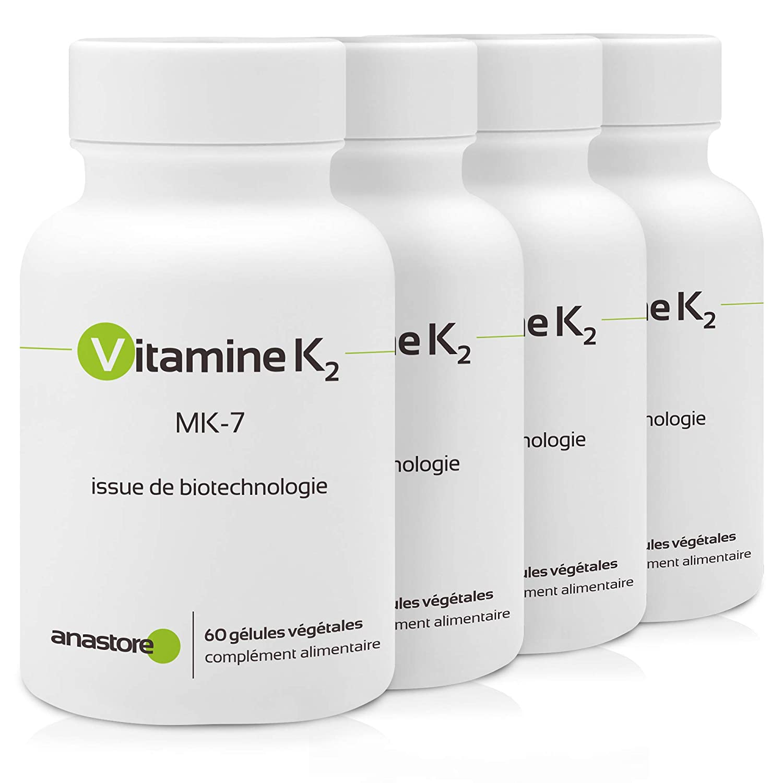 VITAMINA K2 * OFERTA 3+1 GRATIS * 105 μg / 240 cápsulas * Articulaciones (cartílago, inflamación), Cardiovascular (circulación), Hueso * Garantía de ...
