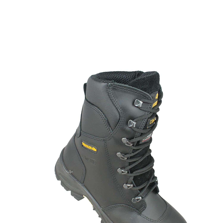 Aimont forerunner einsatzstiefel s3 cI hRO sRC chaussures hI chaussures de travail chaussures berufsschuhe businessschuhe bottes noir - Noir - Noir, 45