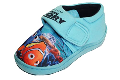 Finding Dory Lorette Slippers Blue Boys Kids Hook & Loop UK Infant Size 5