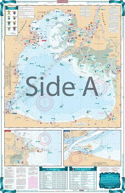 lake st clair fishing map Waterproof Charts Lake Fishing 29f Lake St Clair Charts Maps lake st clair fishing map