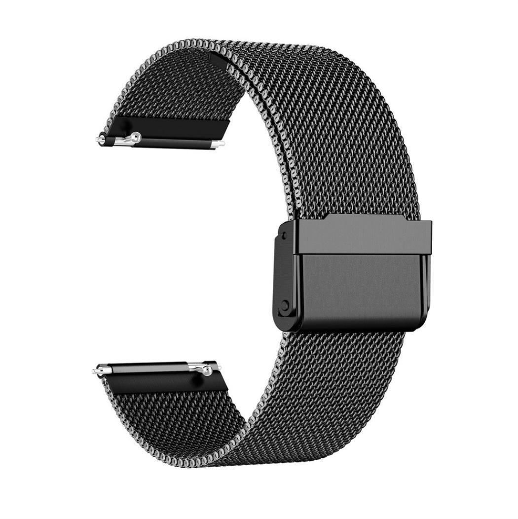 pour 5.71 samLIKE Bracelet de Montre Milanese Loop pour Suunto Spartan Sport 8.27/Zoll Poignet Acier Inoxydable ⭐️ Schwarz   Bracelet de Rechange de Montre