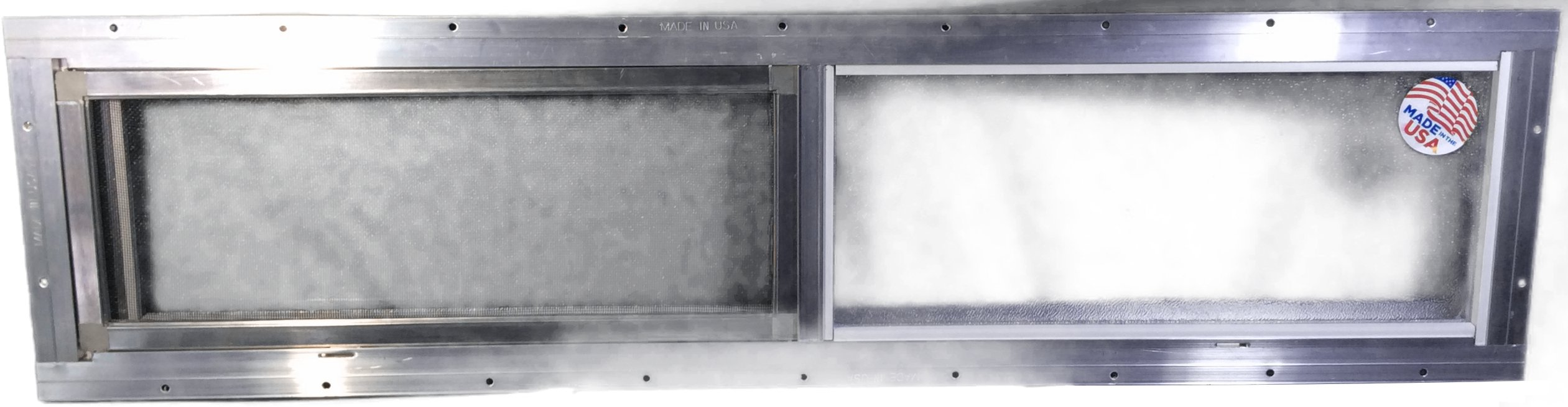 Mobile Home Window 36'' X 8'' Horizontal Slider. Obscured Glass Bathroom Window by Kinro