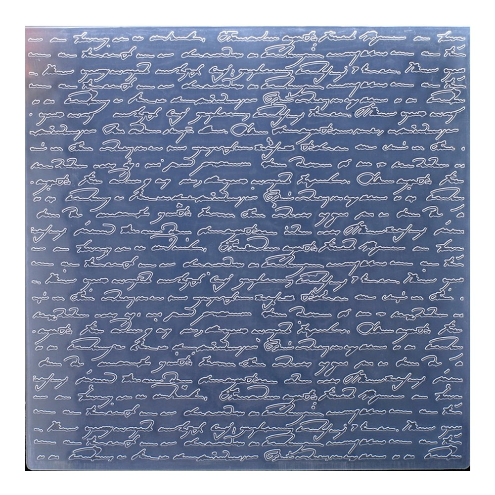 Kwan Crafts Large Size Letters Plastic Embossing Folders for Card Making Scrapbooking and Other Paper Crafts, 19.8x19.8cm