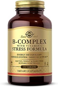 Solgar® Vitamina B-Complex con Vitamina C para la producción de energía y apoyo al sistema inm...