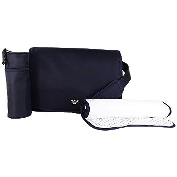 0a37cf5f064b Amazon.com   Armani Junior Unisex Diaper Bag Solid Blue Navy Diaper Bag    Baby