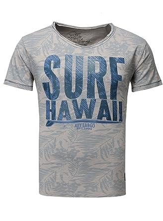 Key Largo Herren T-Shirt Surf Hawaii Vintage Print Sommershirt Strand Meer  Ozean Grau XXL  Amazon.de  Bekleidung f7e70265b0