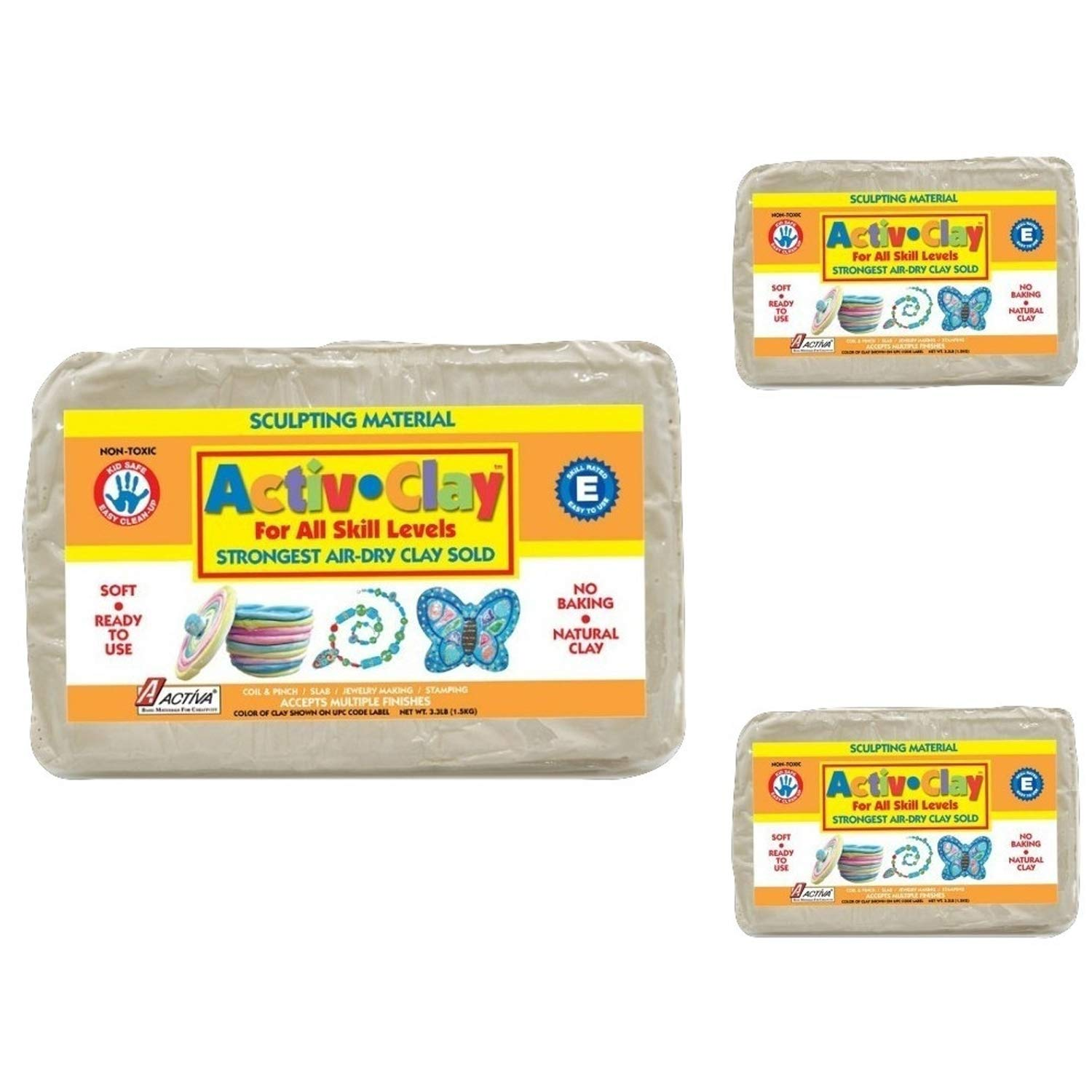 Activa Products Activ-Clay for Arts and Crafts White API164 9.9-Pound
