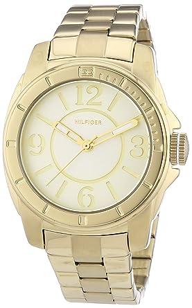 Tommy Hilfiger Watches 1781139 - Reloj analógico de cuarzo para mujer, correa de acero inoxidable chapado color dorado: Amazon.es: Relojes