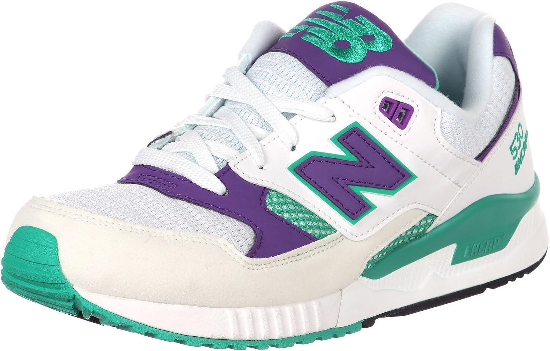 Amazon.com | New Balance 90's Running 530 Men's White/Purple ...
