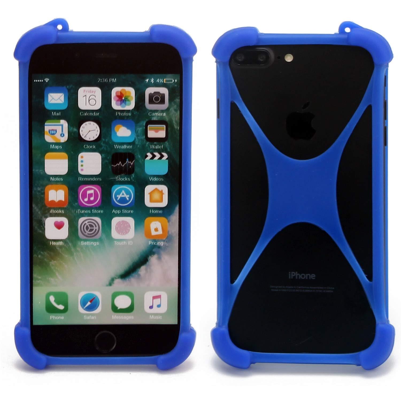 K-S-Trade Pare-Chocs Compatible avec Thomson Friendly TH101 Silicone Bumper T/él/éphone Portable Protection Housse Casque TPU Softcase Protecteur Bleu 1x