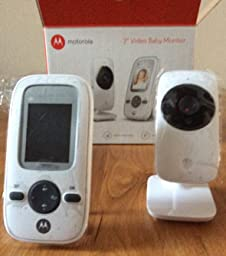 motorola mbp481 digital video baby monitor with 2 inch display silver amaz. Black Bedroom Furniture Sets. Home Design Ideas