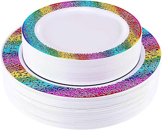 Amazon.com: Enjoylife - 60 platos de plástico desechables ...