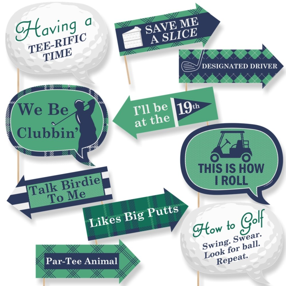 Amazon.com: Funny Par-Tee Time - Golf - Party Photo Booth Props Kit ...