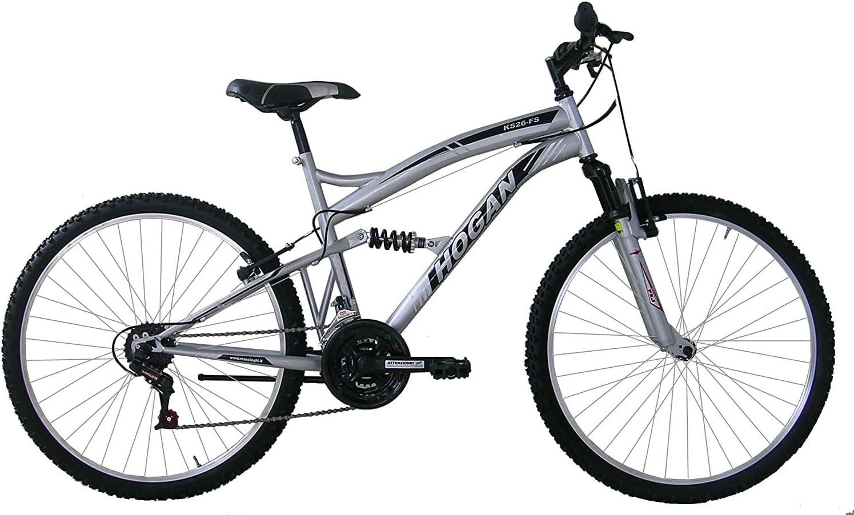 F.LLI MASCIAGHI Bici BIAMMORTIZZATA 26 18 Velocita Cambio SAIGUAN Colore Argento Bicicletta Bike*****