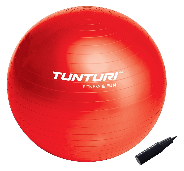 Tunturi-Fitness 14Tusfu170 Balón Suizo, Unisex Adulto, Rojo, 65 cm ...