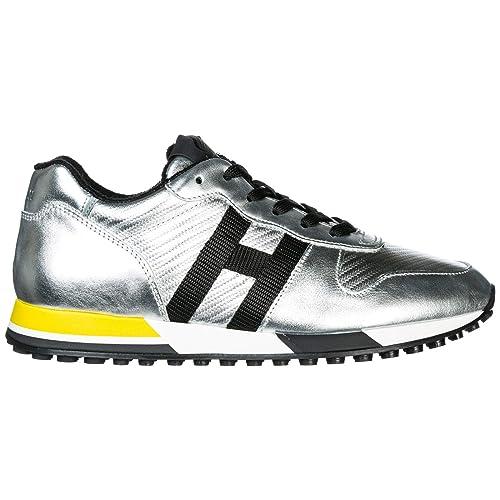 09a6ad7b2cca8 Hogan Scarpe Sneakers Uomo in Pelle Nuove h383 Argento EU 44.5  GYM3830AN50K0N3678  Amazon.it  Scarpe e borse