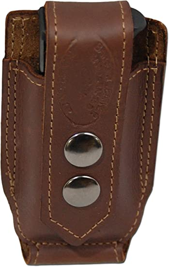 NEW Barsony Brown Leather Single Magazine Pouch CZ EAA FEG Full Size 9mm 40 45