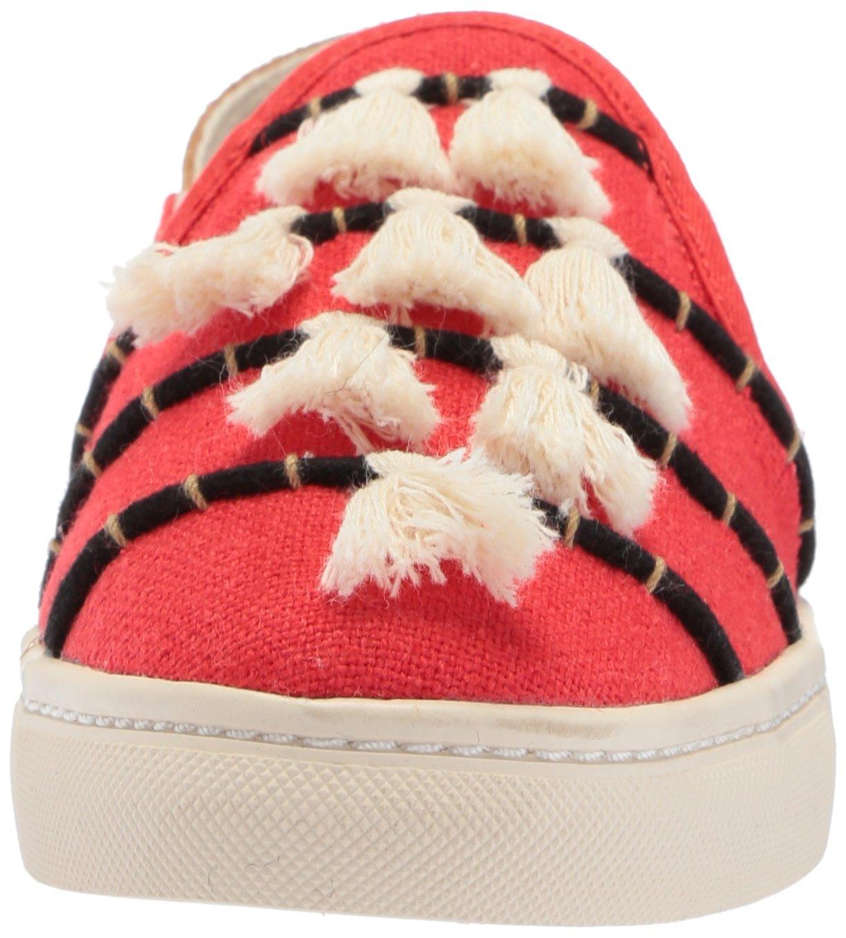 Soludos Women's Tassel Slip Sneaker, Red/Beige, 8 B US by Soludos (Image #4)