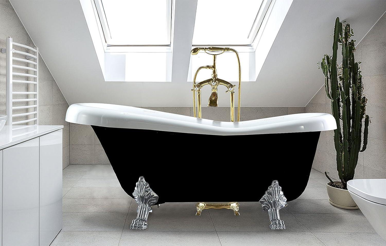 Freestanding Clawfoot Bathtub Acrylic Soaking Oval Slipper Tub