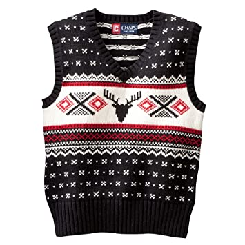 3b0adda74 Image Unavailable. Image not available for. Color: Chaps Fairisle Sweater  Vest - Toddler ...