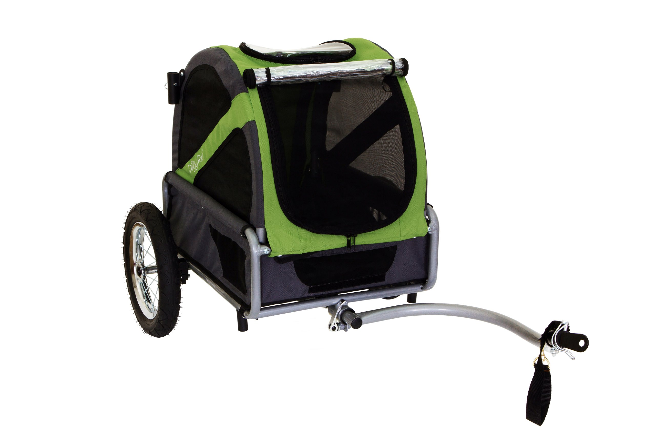 DoggyRide Mini Dog Bike Trailer, Spring Green/Grey by DoggyRide