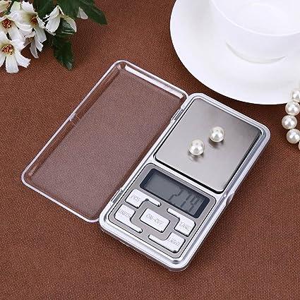 Básculas de Cocina, Ecotrumpuk Báscula digital con mini bolsillo LED, para balanza de equilibrio