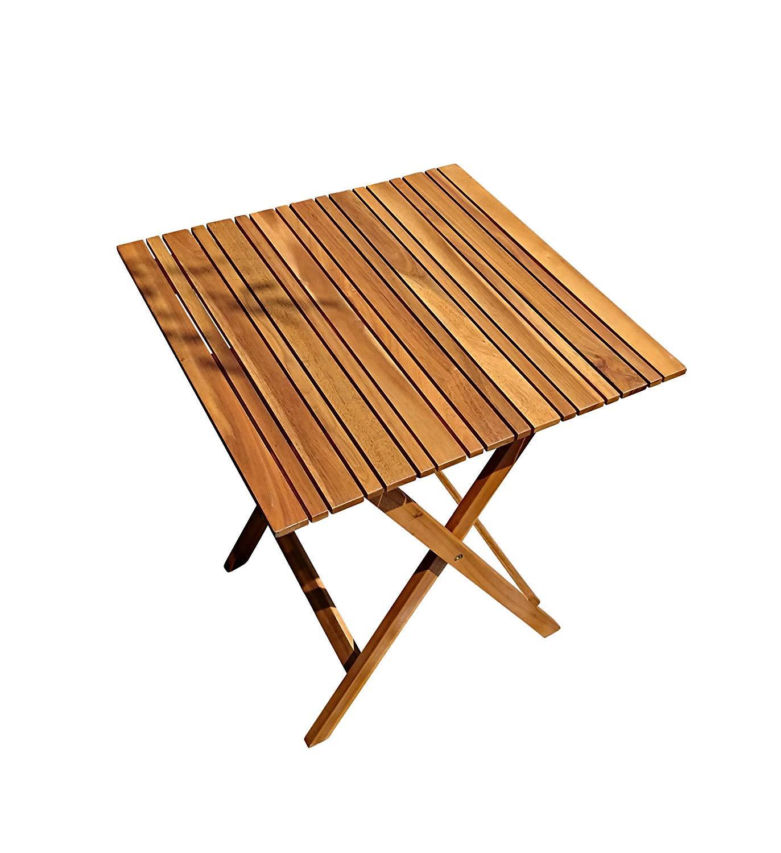 SAM Gartentisch Xenia, 60x60 cm, Balkontisch aus Akazienholz, klappbar