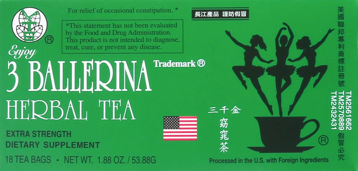 3 BALLERINA TEA DIETERS DRINK EXTRA STRENGTH, 1.88oz 18 Count(3 BOXES)