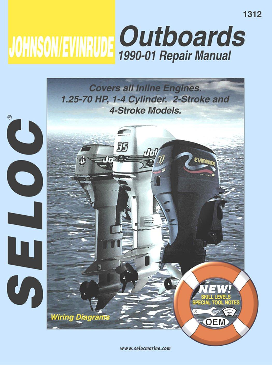 Amazon.com : Sierra International Seloc Manual 18-01312 Johnson/Evinrude  Outboards Repair 1990-2001 1.25-70 HP 1-4 Cylinder 2 Stroke & 4 Stroke  Model ...