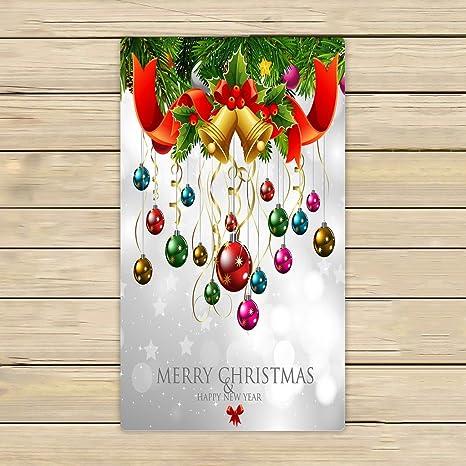 Custom Navidad feliz Navidad feliz año nuevo toallas, baño de playa piscina viaje Sprot mano