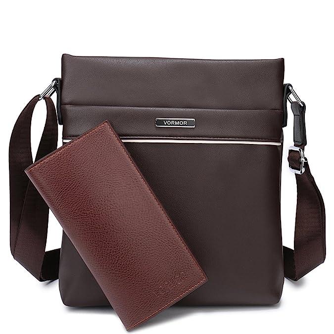 8bbd25bc7 Amazon.com: VORMOR Casual Messenger Bag Men Crossbody Bag with Wallet  (Black): Shoes