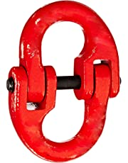 "Indusco 54400012 Painted Grade 80 Drop Forged Alloy Steel Connecting Link, 1/2"" Trade, 12000 lbs Working Load Limit"