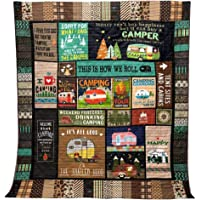 """This is How We Roll Camping Blanket Quilt (38""""x45"""" / 96cmx114cm)"""