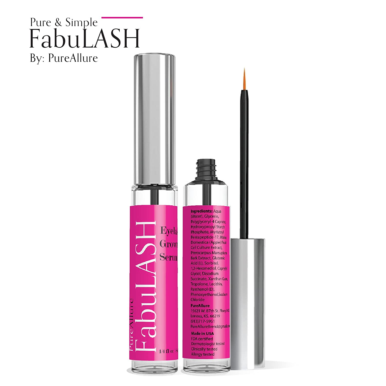 PureAllure Eyelash & Eyebrow Growth Serum - Advanced Formula for Naturally Thick, Long, Voluminous & Luscious Eyelashes - Paraben Free, FDA Certified, Dermatologist Tested