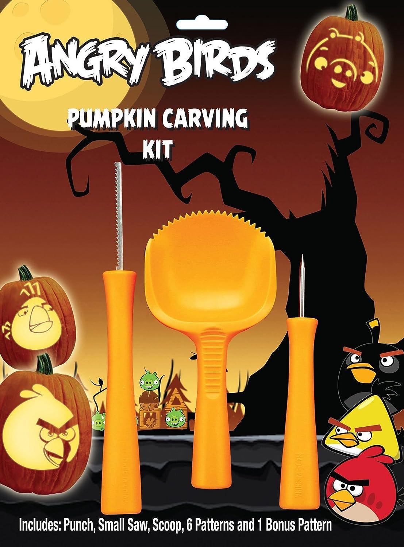 Amazon rovio angry birds pumpkin carving kit orange party