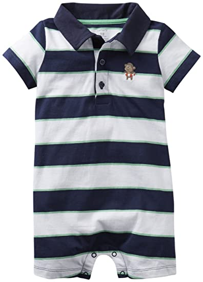 ae241a0bc Amazon.com  Carter s Baby Boys  Romper (Baby)  Infant And Toddler ...