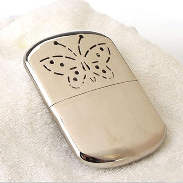 New Metal Hand Warmer Petrol Reusable Pocket Portable Ski Winter Camping 1pc
