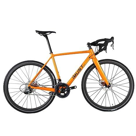 IMUST-Bicicleta de ciclocross/Urbana de Fibra Carbono con 700C Ruedas Di2//