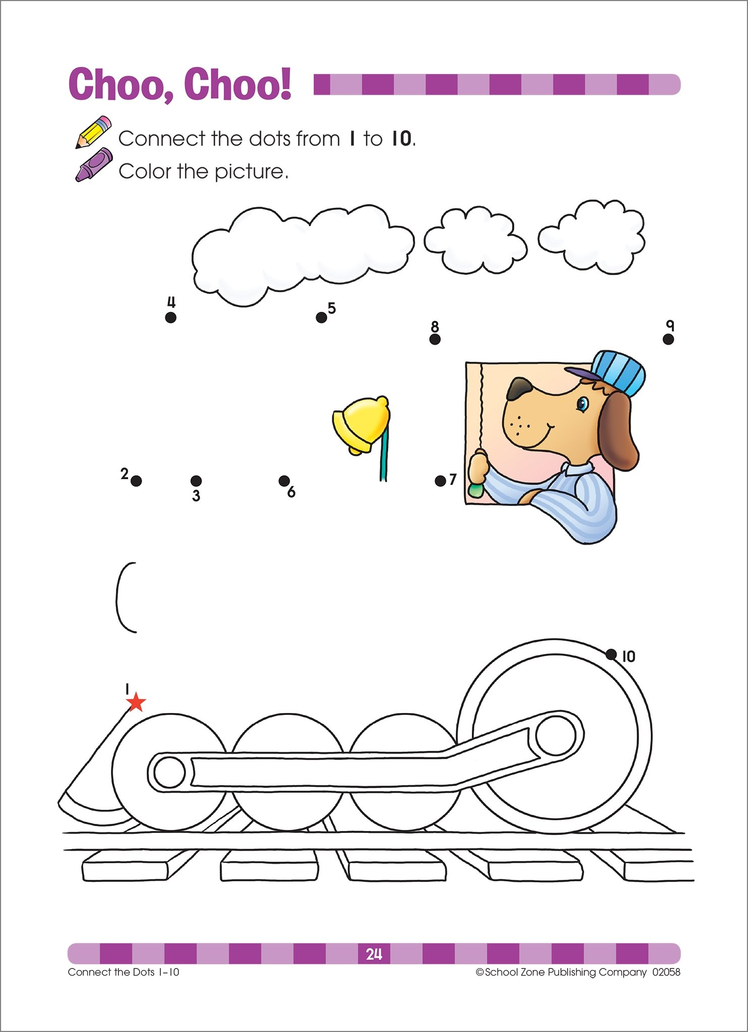 School Zone Connect The Dots Workbook Ages 3 To 5 Preschool To