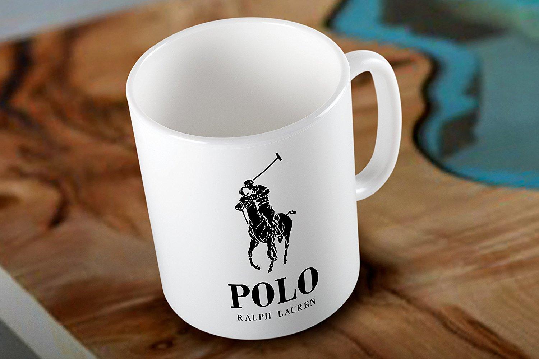 Mensuk Polo Ralph Lauren Two Side White Coffee Mug Low Shipping ...