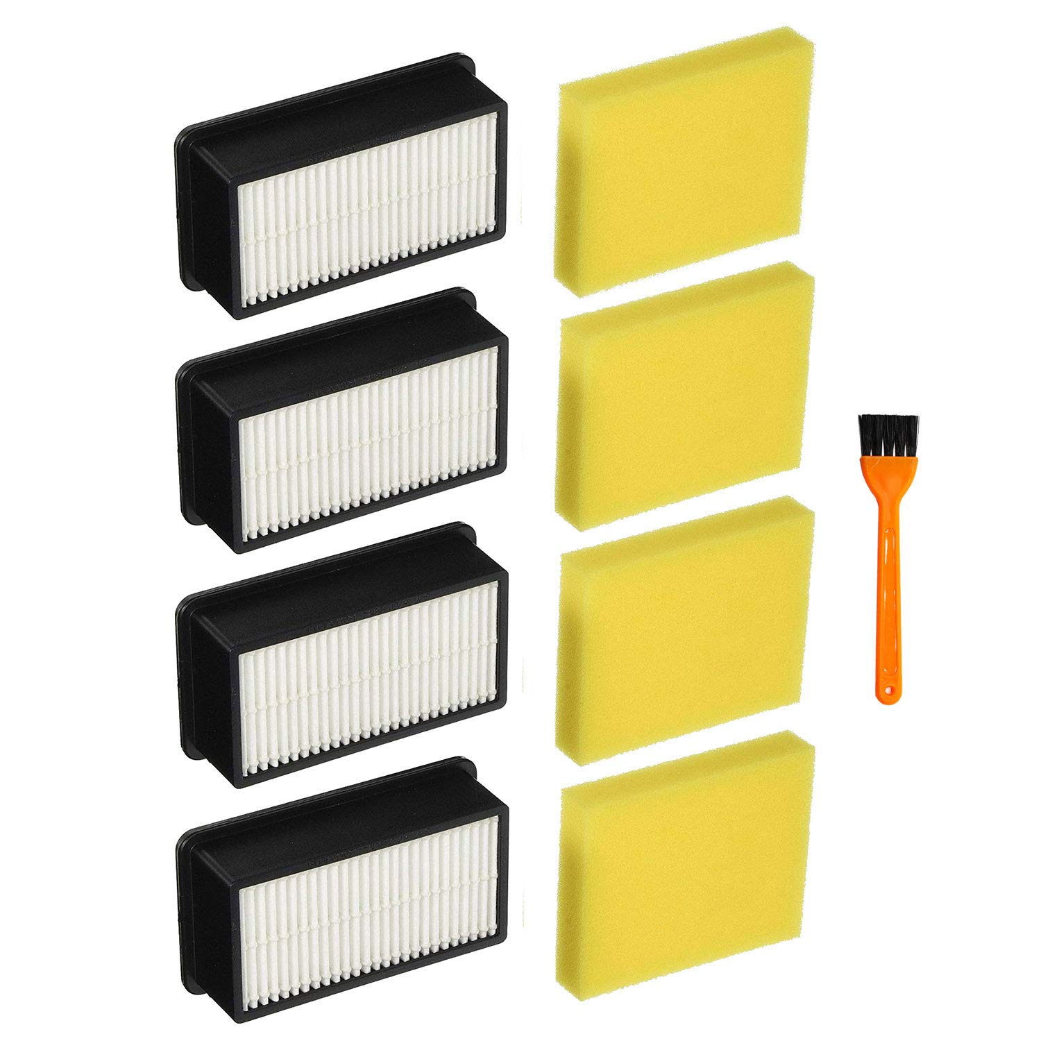 Lemige 4 + 4 Pack Filters for Bissell 1008 CleanView Vacuums Replacement Filters Kit, Compare to Part 2032663 & 1601502
