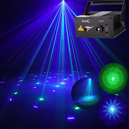 stage laser christmas event lights home decorative light suny green blue gb 9 gobo projector blue