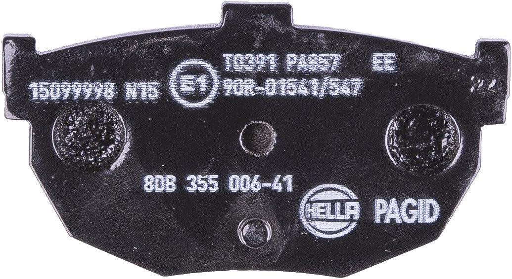 Assale posteriore Freno a disco HELLA PAGID 8DB 355 006-411 Kit pastiglie freno