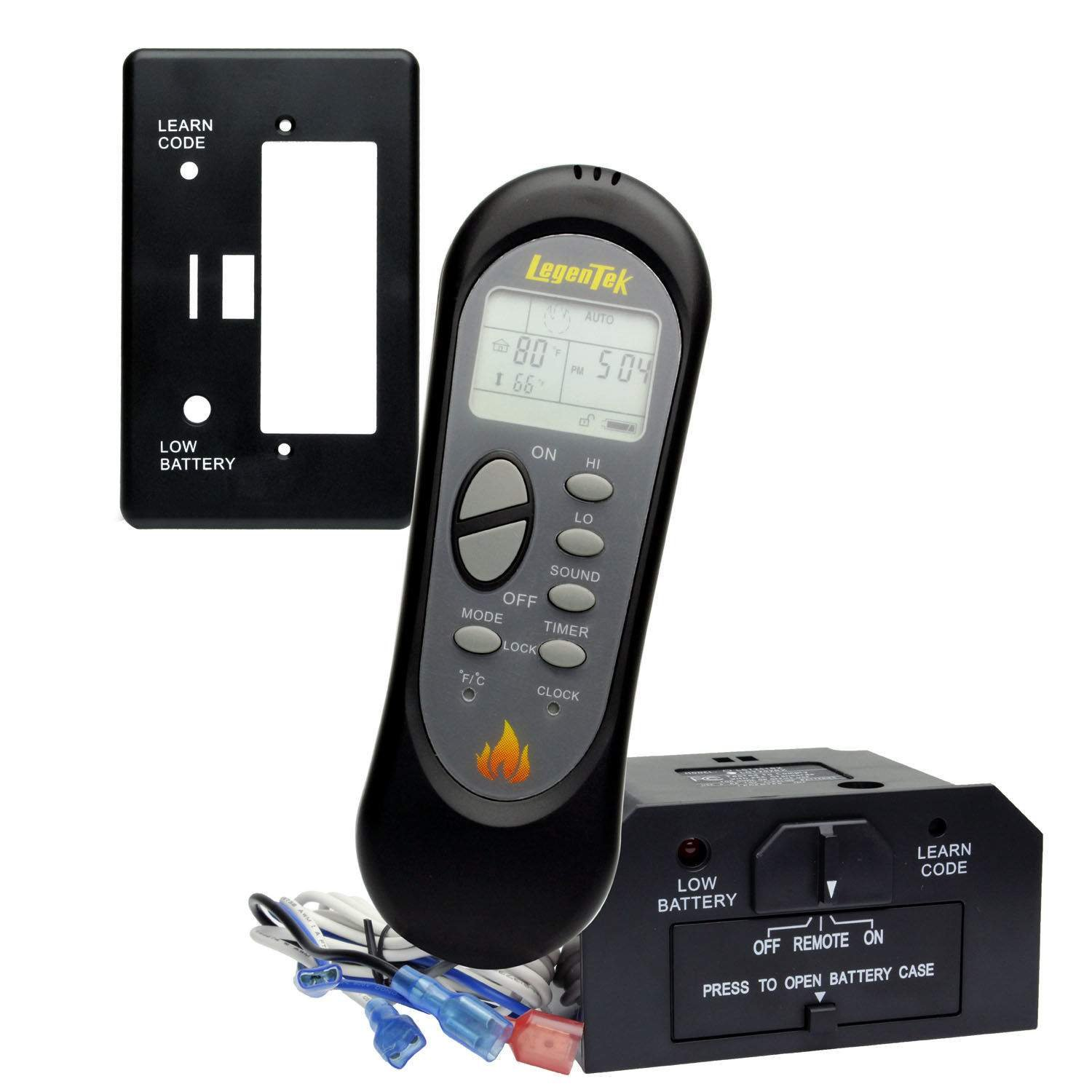 Hearth Products Controls Acumen Ultrasonic Thermostatic Fireplace Remote Control (TRX-25) HPC Indoor
