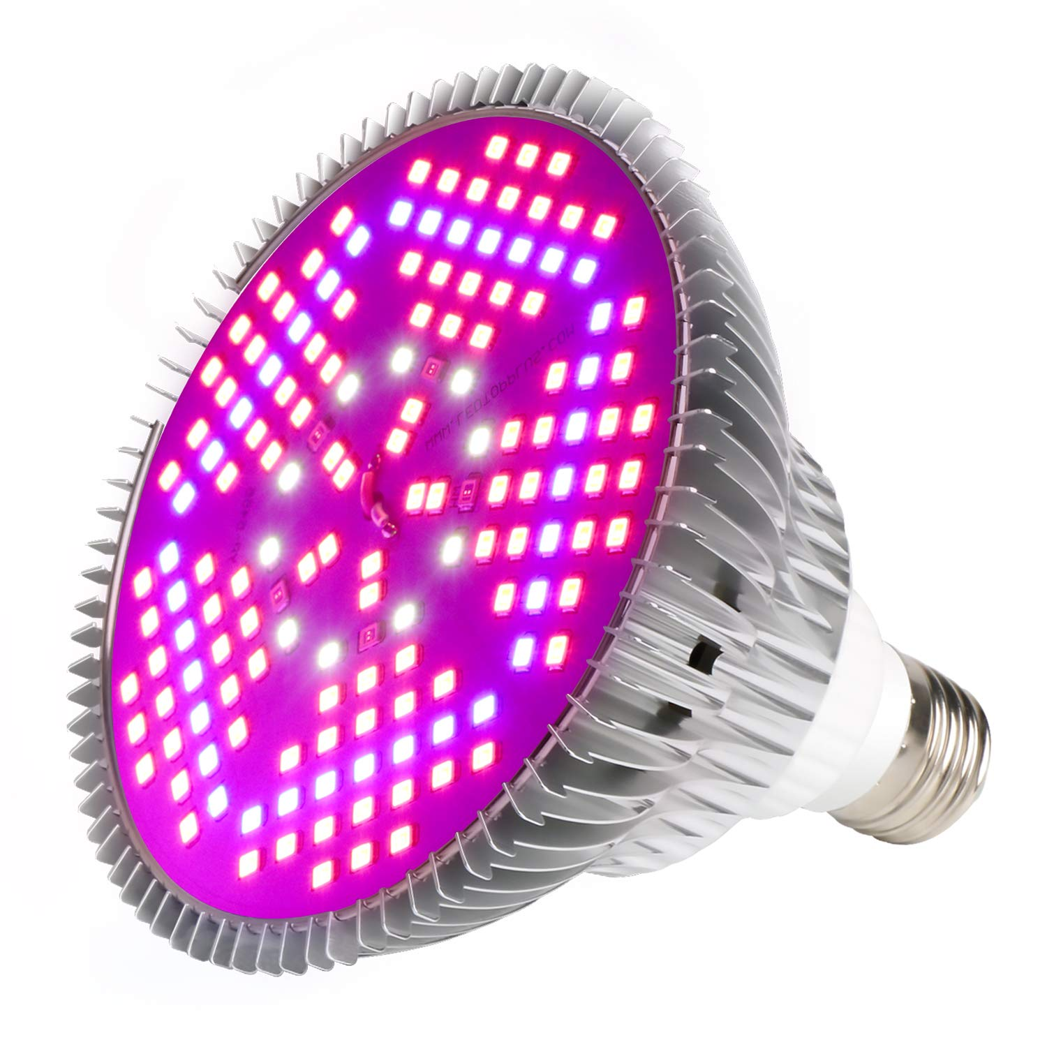 100W Led Grow Light Bulb, Plant Lights Full Spectrum for Indoor Plants Hydroponics, Led Plants Bulbs for Flowers Tobacco Garden Greenhouse and Organic Soil (E26 120LEDs) … by MIYA