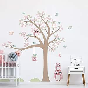 Adesivo de Parede Infantil Árvore Coruja Baby