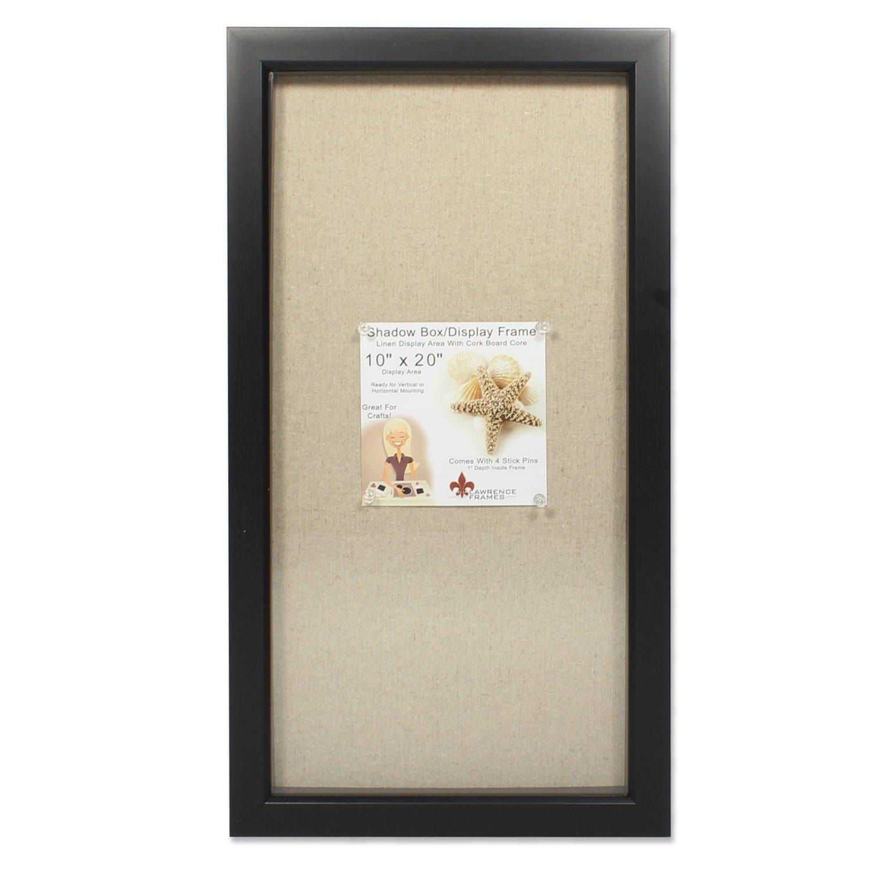 10x20 black Shadow Box Lawrence Frames 168020