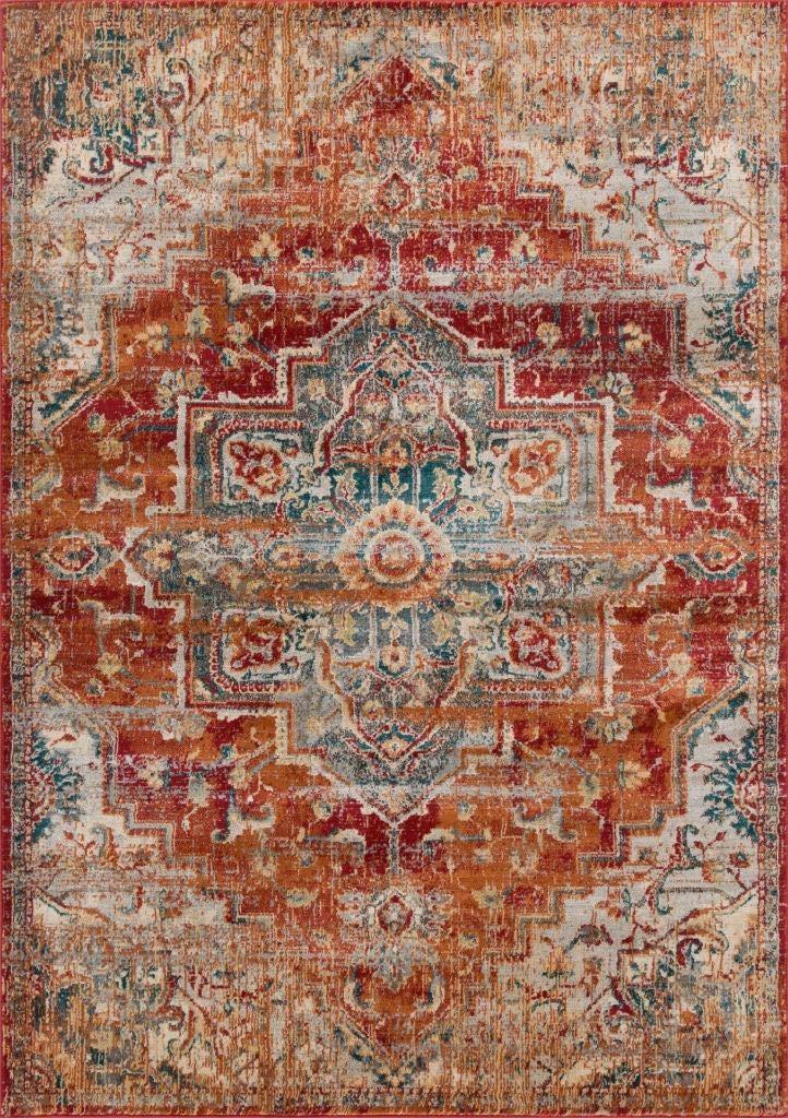 Luxe Weavers Red 5x7 Oriental Area Rug